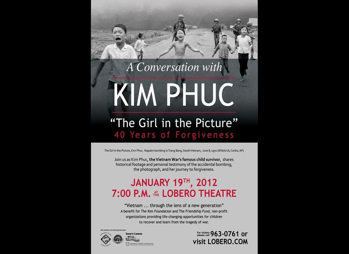 Vietnam Napalm Survivor Speaks at Lobero Theatre January 19th, 2012