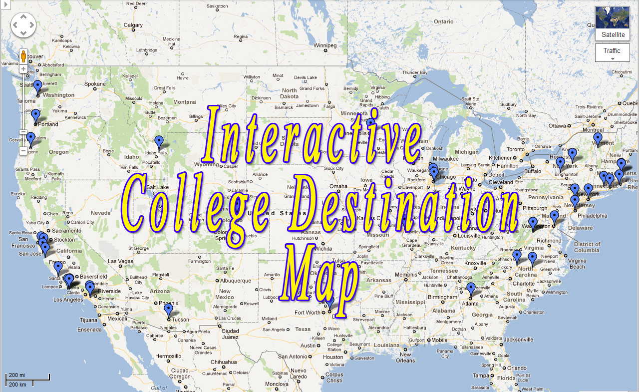 Laguna Blanca 2011 College Destination Map