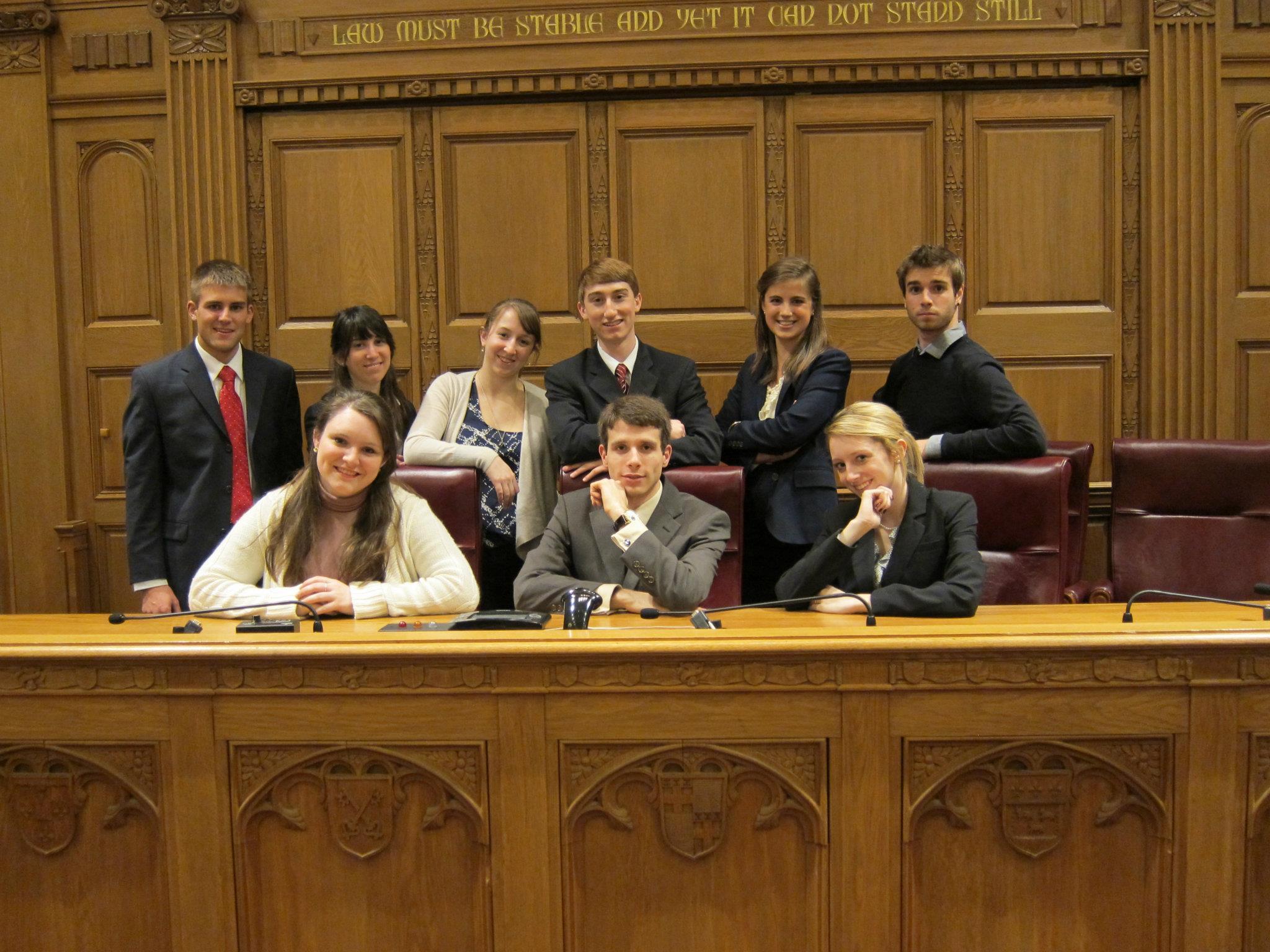 Ian Carradine Advances in Mock Trial as a College Freshman