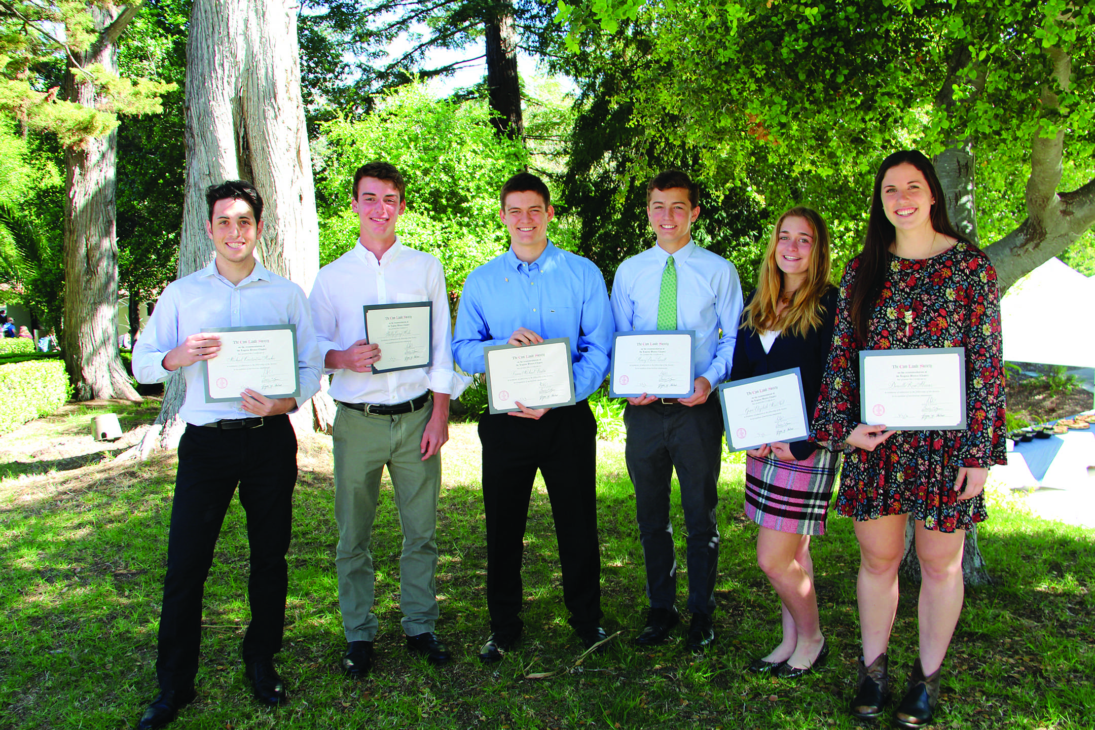 Students inducted into the Cum Laude Society