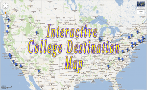 Laguna Blanca 2011 College Destination Map