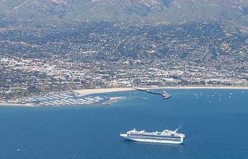 Cruise Ships Drop Anchor in Santa Barbara