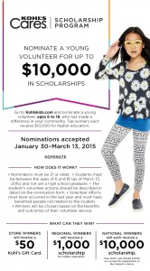 Nominate a Young Volunteer Age 6-18 for Up to $10,000 in Scholarships