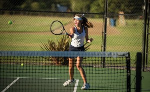 Girls Tennis Team Defends Home Court