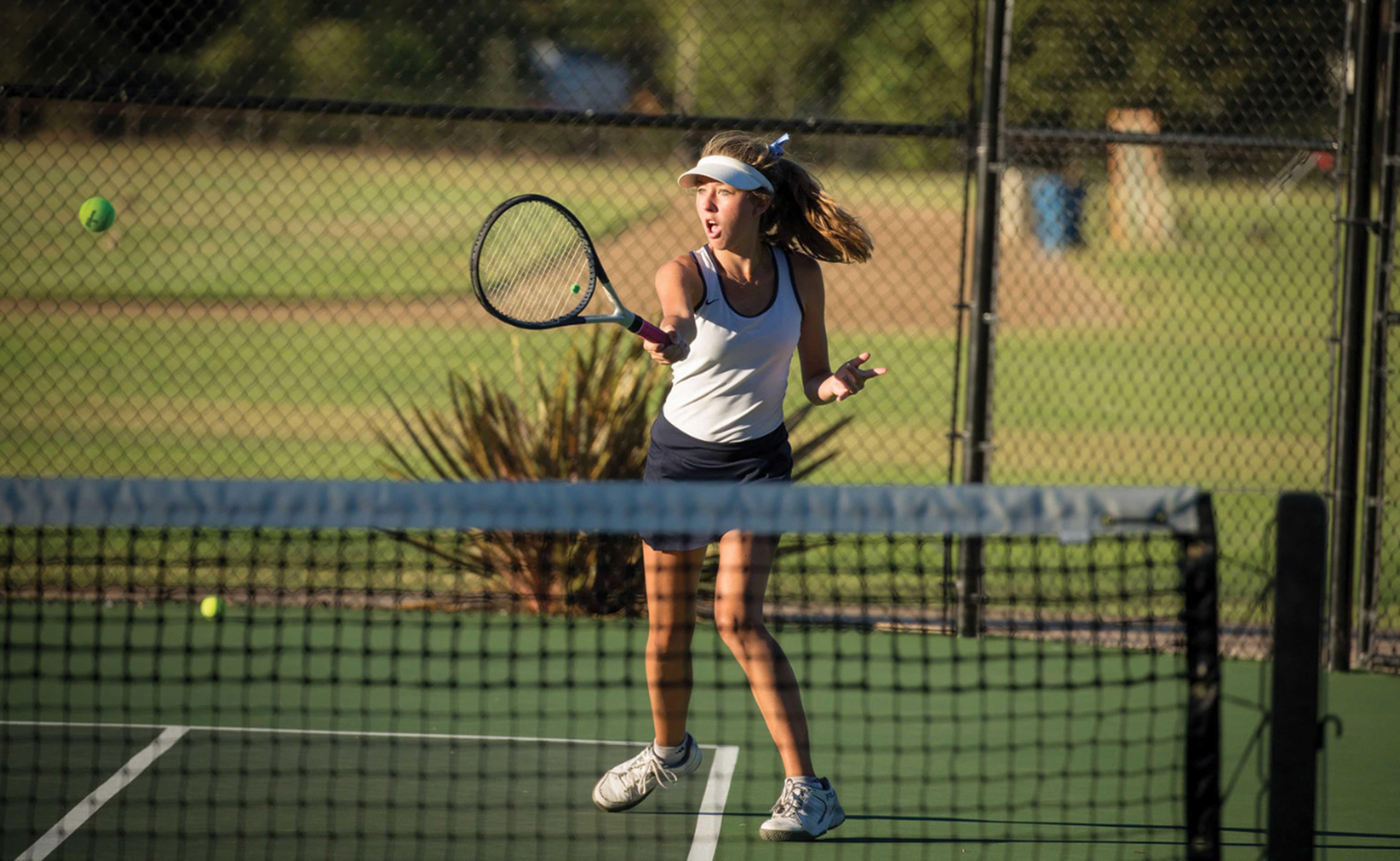 Girls Tennis Team Defends Home Court