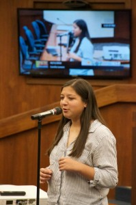 Camila Lemere Wins County Poetry Out Loud Contest