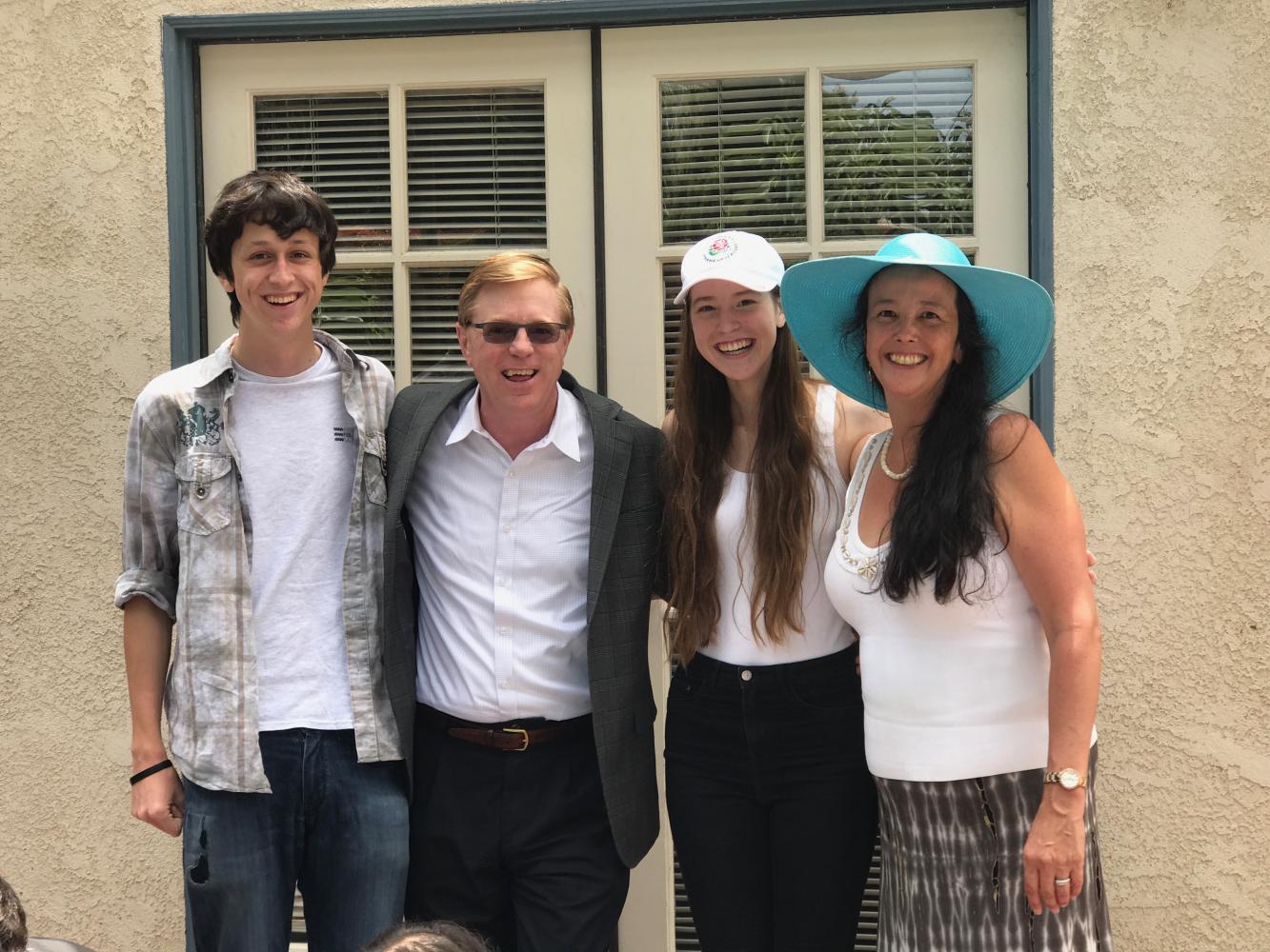 Dr. Yoshimura's family: Liam (17), Bill, Vivian (15) and Dr. Yoshimura