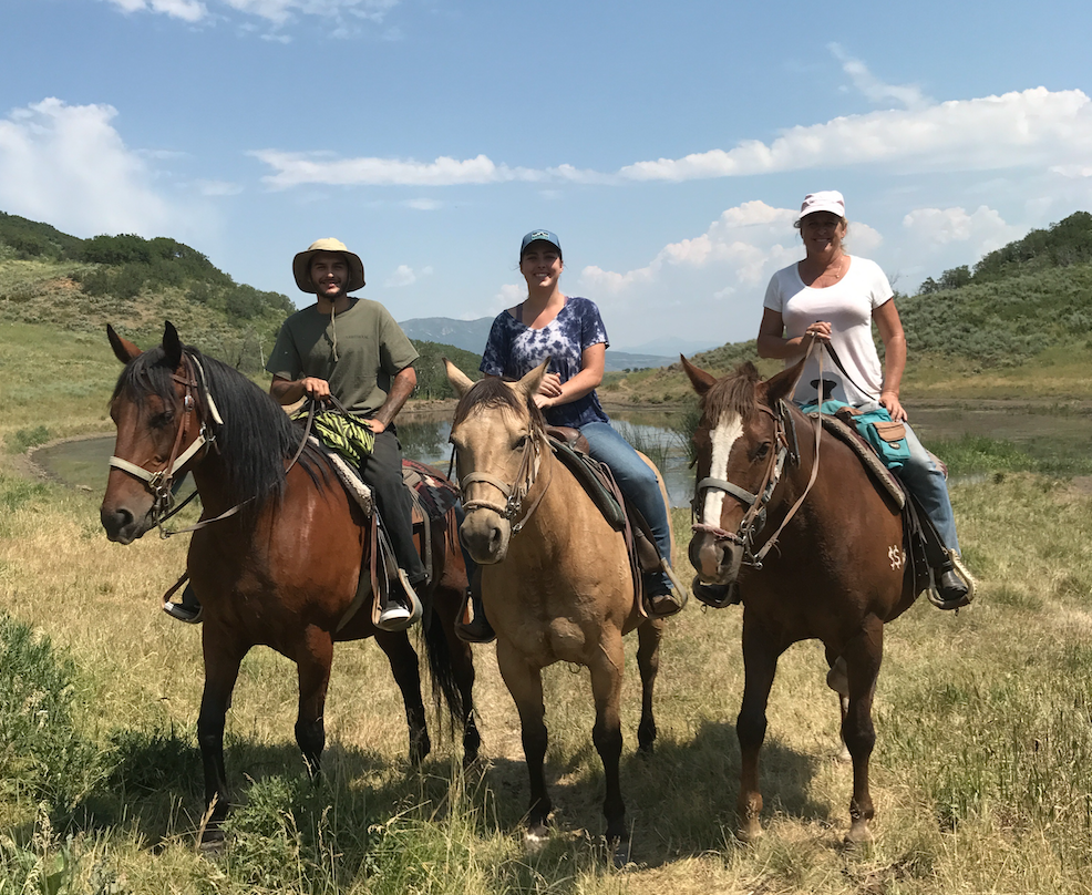 Ms. Baeza on the far right at Saddleback Ranch Cattle Drive